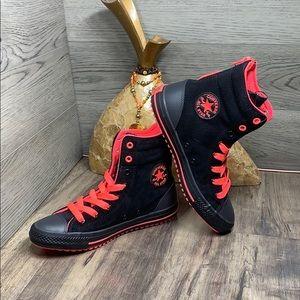 Converse CTAS HI-RISE BOOT X-HI black/hot punch/al